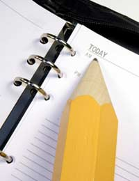 pencil and notepad, can my employer change my working hours?