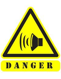 danger from noise in the workplace symbol